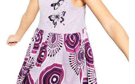 Desigual fialové dívčí šaty Harrisburg