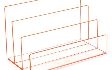Kancelářský stojan s oranžovými hranami Lund London Flash Tidy