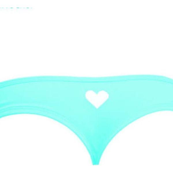 Spodní díl plavek se srdíčkem - modrý, vel. 5 - dodání do 2 dnů