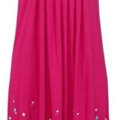 Lehké dlouhé květinové šaty pro ženy - Růžová, velikost 4 - dodání do 2 dnů