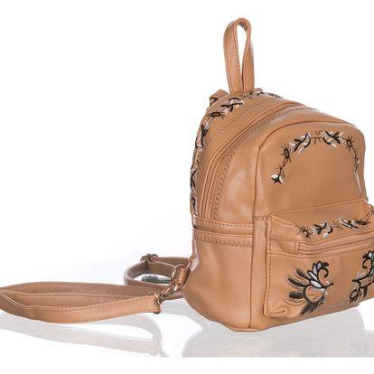 Fashion Icon Stylový vyšívaný batoh do města