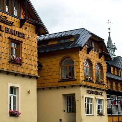 Hotel Bauer *** v Beskydech s polopenzí, wellness a animačním programem pro děti