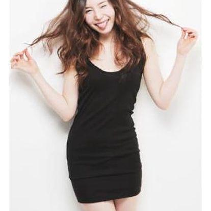 Dámské elegantní šaty - černá barva - dodání do 2 dnů