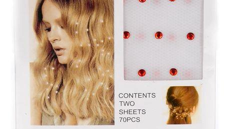Fashion Icon Nažehlovací kamínky do vlasů 70 ks
