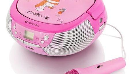 Radiopřijímač s CD GoGEN Maxipes Fík MAXIPREHRAVAC P růžový/fialový