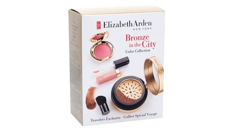 Elizabeth Arden Pure Finish dárková kazeta pro ženy bronzer Pure Finish Mineral Bronzing Powder 7,7 g + štětec 1 ks + tvářenka Ceramide Cream Blush 2,67 g + lesk na rty Beautiful Color Lip Gloss 4 ml