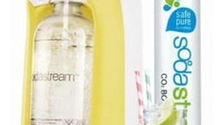 Výrobník sodové vody SodaStream Pastels JET PASTEL YELLOW žlutý + dárek