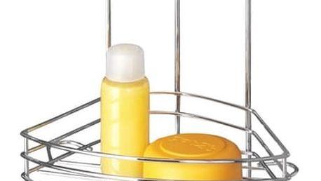 Rohový dvoupatrový stojan bez nutnosti vrtání Wenko Vacuum-Loc, až 33 kg - doprava zdarma!