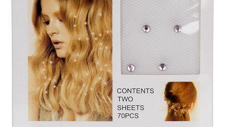Nažehlovací kamínky do vlasů 70 ks