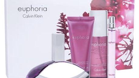 Calvin Klein Euphoria dárková kazeta pro ženy parfémovaná voda 100 ml + parfémovaná voda 10 ml + tělové mléko 100 ml + tělový závoj 150 ml