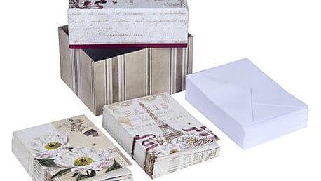 Set komplimentek a obálek v úložném boxu Tri-Coastal Design Paris - doprava zdarma!