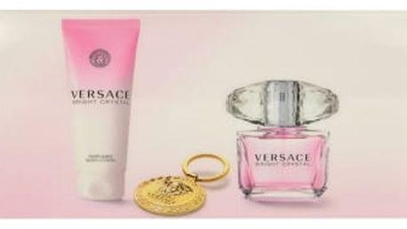 Versace Bright Crystal dárková kazeta pro ženy toaletní voda 90 ml + tělové mléko 100 ml + klíčenka