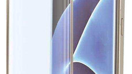 CELLY Glass ochranné tvrzené sklo pro Samsung Galaxy S7 Edge, zlaté - GLASS591GD