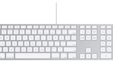 Klávesnice Apple Wired, CZ (MB110CZ/B) bílá