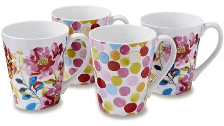 Sada 4 hrnků Cooksmart England Floral Romance - doprava zdarma!