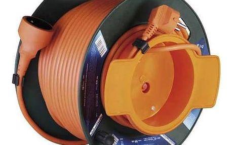 Kabel prodlužovací na bubnu EMOS 1x zásuvka, 50m (DG-XZF01 (E-F8A)) oranžový