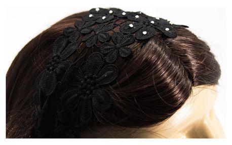 Čelenka do vlasů krajková pružná
