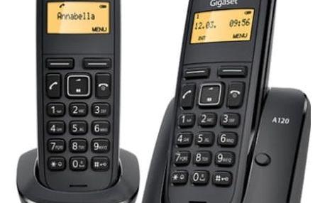 Domácí telefon Siemens A120 duo (L36852-H2401-R601) černý