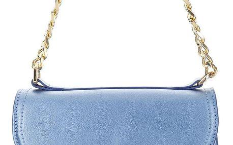 Fornarina metalická kabelka Iris Blue Mirror Pu Bag