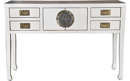 Bílý konzolový stolek z topolového dřeva SOB China - doprava zdarma!