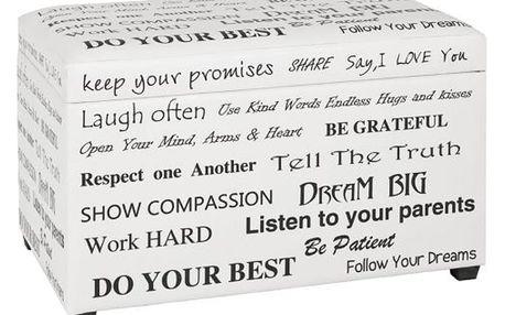 Sedací box slogan, 65/40/42 cm