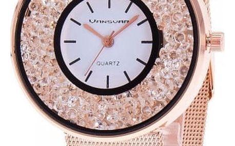 Dámské hodinky - kamínky v ciferníku