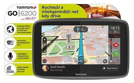 Navigační systém GPS Tomtom GO 6200 World, Wi-Fi, LIFETIME mapy (1PL6.002.01) černá