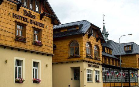 Léto v Hotelu Bauer *** v horském údolí Bílá s neomezeným wellness, fitness a polopenzí