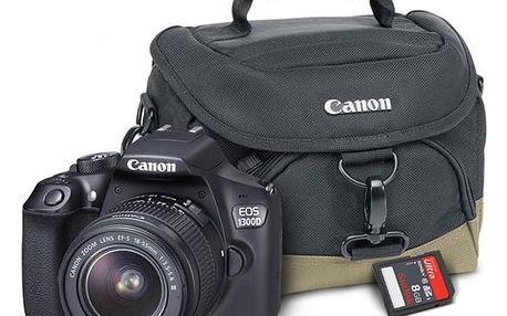 Digitální fotoaparát Canon EOS 1300D + 18-55 mm DC III černý Starter Kit černý + DOPRAVA ZDARMA