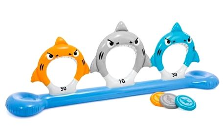 Plovací hračka Intex žralok s disky (57501NP)