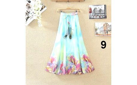 Lehoučká dlouhá sukně na jaro i léto - varianta 9 - dodání do 2 dnů
