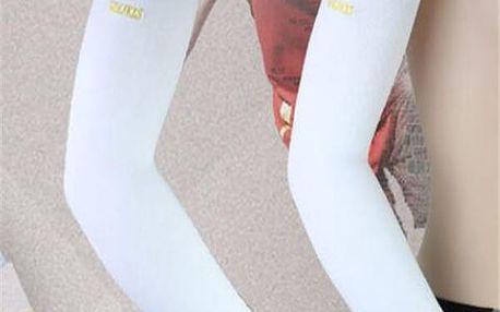 Elastické sportovní návleky na ruce v bílé barvě