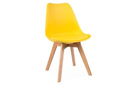 Žlutá židle Signal Kris - doprava zdarma!