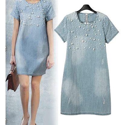 Dámské letní džínové šaty velikosti 7