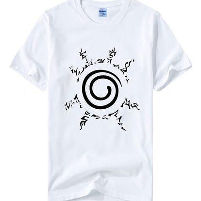Pánské tričko s motivem spirálovitého slunce - bílá, velikost č. 3