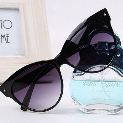 Dámské brýle v retro stylu - černé