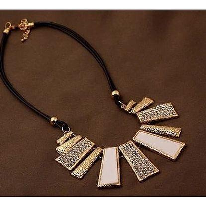 Luxusní náhrdelník na běžné nošení - bílá varianta