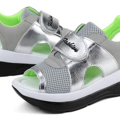 Dámské turistické sandále na suchý zip - zelené, vel. 36
