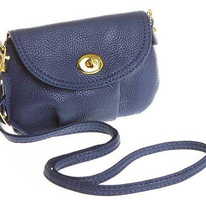 Mini dámská kabelka v modré barvě