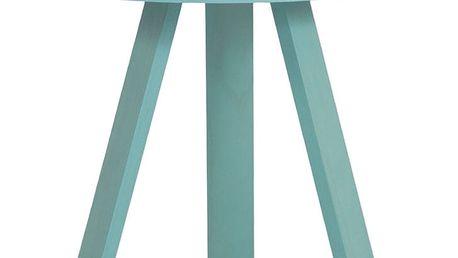 Zelený odkládací stolek s podnosem Woodendot Batea S - doprava zdarma!