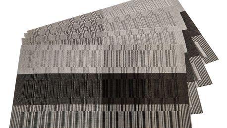 Jahu Prostírání Linie šedá, 30 x 45 cm, sada 4 ks