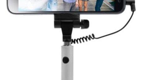 Selfie tyč FIXED Snap Mini - stříbrná (FIXSS-SNM-SL) stříbrná