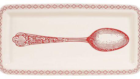 Červenobílá odkládací miska Comptoir de Famille Acc-Cuisine