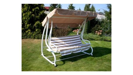 Houpačka zahradní Rojaplast De-luxe béžová + Doprava zdarma