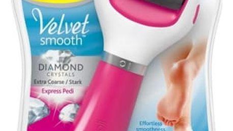 Elektrický pilník na chodidla Scholl Velvet Smooth Diamond Extra hrubý růžová + dárek
