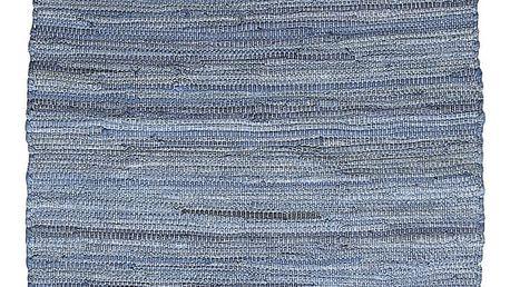Modrý vzorovaný koberec A Simple Mess Mille, 90x60cm