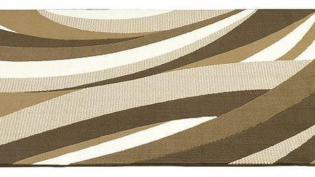 Hnědý koberec Hamla Curves, 120x170cm