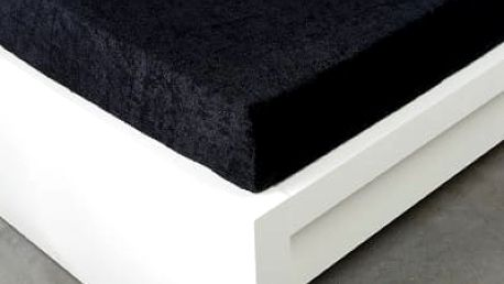 XPOSE ® Froté prostěradlo Exclusive - černá 120x200 cm