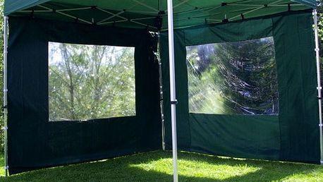 Garthen PROFI 428 Sada 2 bočních stěn pro zahradní stan 3 x 3 m - zelená