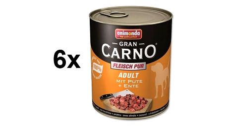 Konzerva Animonda Adult Gran Carno krůta + kachna 6 x 800g